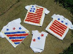 DIY Painted 4th of July Shirts