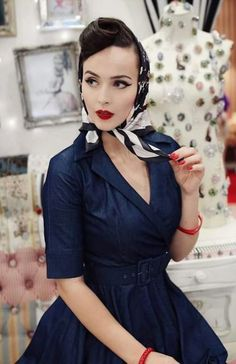 57 Trendy vintage hairstyles diy pin up Pin Up Vintage, Moda Vintage, Vintage Glamour, Vintage Girls, Vintage Beauty, Vintage Looks, Vintage Dresses, Vintage Outfits, 1950s Dresses