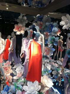 Diane von Furstenberg Spring windows    My mixed media paper flowers on view now in the windows of the DvF New York and Paris stores.