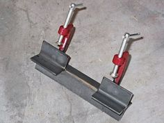 Homemade welding jig , aligns round or square stock to be welded