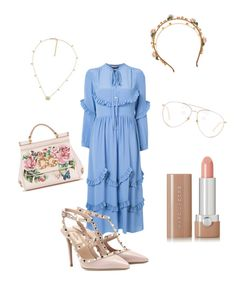 """Gorgeous summer look🌷"" by pirjo-kivimaki on Polyvore featuring Rochas, Dolce&Gabbana, Valentino, Gucci, Linda Farrow and Marc Jacobs"