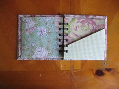 A Bind It All Project, a pocket book - AWESOME SITE FOR MINI BOOK TUTORIALS - EVERYTHING NEEDED LISTED INCLUDING SIZES OF PAPER