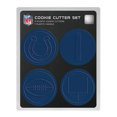 NFL Indianapolis Colts Officially Licensed Set of Cookie Cutters *** New and awesome product awaits you, Read it now : : Baking Accessories
