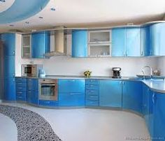 blue kitchen countertop - Google Search