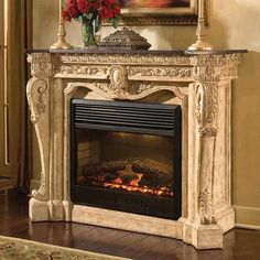 If you are looking to give your room a focal point or something to highlight it, look no further than the fireplace mantel that's already there. Many tend to leave their fireplace mantels bar… Fireplace Mirror, Stove Fireplace, Modern Fireplace, Living Room With Fireplace, Fireplace Surrounds, Fireplace Design, Fireplace Ideas, Fireplace Makeovers, Custom Fireplace