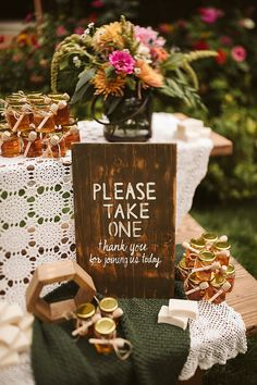 Ashley and Gabe's Super Stylish Boho Inspired Backyard Wedding by Weiss Photo and Film Affordable Wedding Favours, Creative Wedding Favors, Edible Wedding Favors, Cake Table Decorations, Wedding Aisle Decorations, Wedding Centerpieces, Wedding Blog, Boho Wedding, Diy Wedding Inspiration