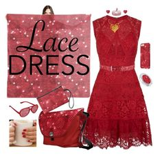 """""""Red Lace Dress"""" by gravityx9 ❤ liked on Polyvore featuring Elie Saab"""