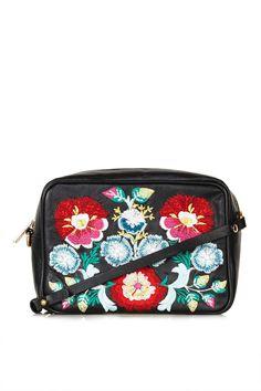 Floral Leather Crossbody Bag - Topshop USA