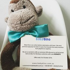 Our lovely friends over at Baby Dino gave all of our subscribers a 20% off discount card in their boxes last month. They have been very kind to extend it to our Insta peeps too!  Check them out as their range is just gorgeous and of cause use the discount! Happy days.  ( 0-5 kids fashion) #preschoolerlife #toddler #toddlerlife #toddleractivity #kidscrafts #kidsactivities #montessori #parenting #sahm #wahm #earlychildhood #childhoodunplugged #australia #playideas #boxformonkeys #instahappy…