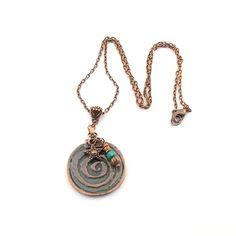 Spiral Mykonos Necklace Antique Copper Starfish by CinLynnBoutique, $26.00