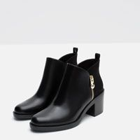 COMBINED ANKLE BOOT from Zara