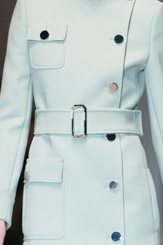 This coat from Gucci's Fall 2014 collection beautifully shows asymmetrical balance.
