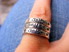Mothers Ring Personalized Birthstone Stacking by HelenesDreams, $112.00
