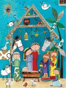 Christmas Nativity Scene | Traditional Nativity Scene Christmas Cards