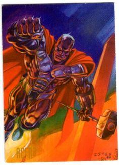 4-Acero  Con el afán de cubrir el hueco que dejó Superman al morir en manos de Doomsday, John Henry Irons utilizando sus conocimientos en balística, ideo un traje de acero con el cual combate el crimen en los barrios bajos de Metrópolis. Desde el regreso de Superman, Irons se mudó a Washington D.C. donde, como Acero, confronta los problemas urbanos de su nuevo hogar.