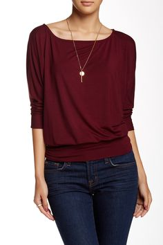 Boatneck Banded Shirt by Loveappella on @HauteLook This looks like a great top! I'd love to layer this!