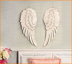 Angel Wings Large Antiqued Gold Wall Art | Angel Wings, Angel And Gold Walls