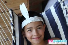 How to make simple indian headdress for kids