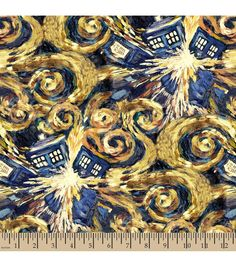 OMG, this exists??? Amazing! Doctor Who Exploding Tardis Cotton Fabric