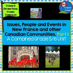 This Issues, People and Events in New France and Other Canadian Communities, Part 1 unit is meant to support the Strand A Heritage and Identity Ontario Social Studies Curriculum for Grades 5 and 6.  The two Ontario units being covered are:Grade 5:  First Nations and Europeans in New France and Early CanadaGrade 6:  Communities in Canada, Past and PresentThis is a COMBINED grade unit, meaning that it has been carefully created to blend the key expectations so that teachers are able to teach…
