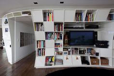 #Triptyque studio created this amazing space for Houssein Jarouche, featuring their Treme Treme bookcase.