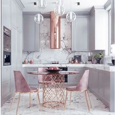A great look for a small kitchen. Soft a dusty colors. By Nama interior design … A great look for a small kitchen. Soft a dusty colors. By Nama interior design. Home Decor Kitchen, New Kitchen, Kitchen Interior, Home Interior Design, Home Kitchens, Kitchen Dining, Interior Decorating, Kitchen Ideas, Kitchen Modern