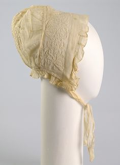 Cap Date: ca. 1850 Culture: American Medium: Cotton