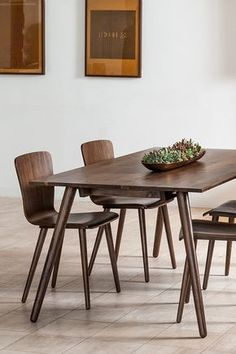 Modern Furniture Dining Table round dining table, 4-6 person, walnut finish | article conan