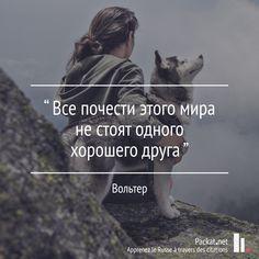 Toutes les grandeurs de ce monde ne valent pas un bon ami. [Voltaire] Apprendre le russe à travers des citations