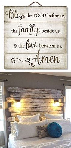 DIY Rustic decorating ideas with pallet wood