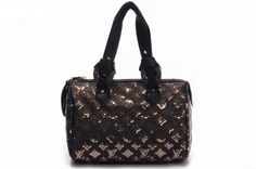 Louis Vuitton M40244 Monogram Eclipse Speedy Handbag - Gold             http://www.cent-store.com/louis-vuitton-2012-new-arrivals-c-1_20_9_24_27.html