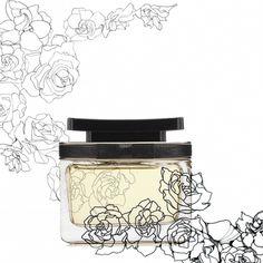 Marc Jacobs Fragrance  floral drawing bottle design