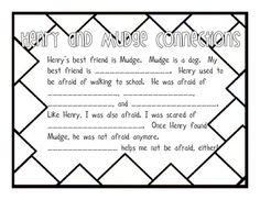These two worksheets correspond with the Henry and Mudge story from the 2nd grade McGraw-Hill reader.  I use them to make text-to-self connections and for a comprehension check.  Enjoy!