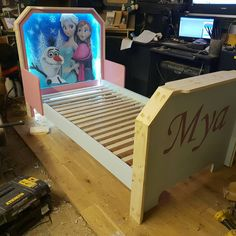 Almost done, this turned out well Bob The Builder, Iconic Movies, Toddler Bed, Studios, Design, Home Decor, Child Bed, Decoration Home, Room Decor