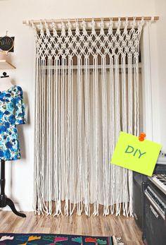 Cómo hacer cortinas de macramé paso a paso!!!!!