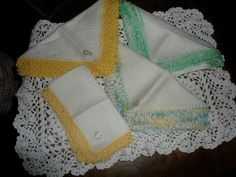 Vintage Set Of Four Irish Linen Doilies by TammysFindings on Etsy, $32.00