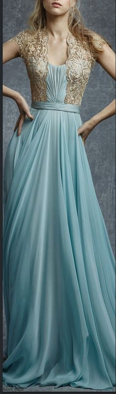 I love looking at ball gowns.