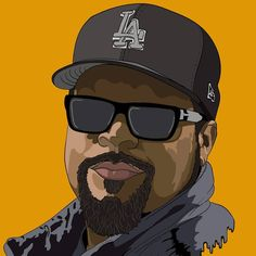 i drew Ice Cube today. feedback?  #icecube #hiphop #music #spotify #everythangscorrupt #adobe #adobeillustrator #digitalart #portrait #face #colors @icecube #wacom #cintiq13hd #movies #actor