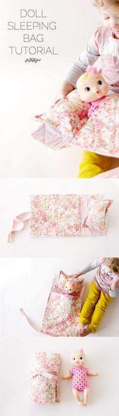easy doll sleeping bag tutorial