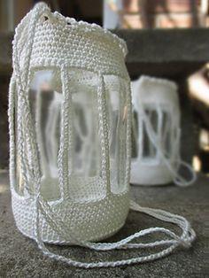 ...love these crocheted lanterns