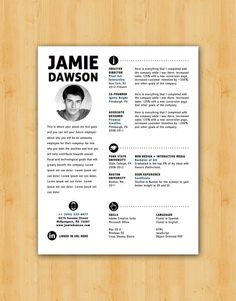 Dawson Resume Template - Helping You Save Time & Get The Dream Job You Deserve - Instant Download - DocX and Doc Format