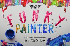 FUNKY PAINTER Photoshop Creative Kit by Graphic Spirit on @creativemarket