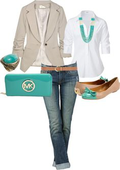 collective chic...the shoes and the bag add a nice touch