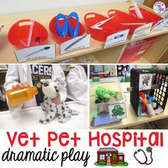 Change the dramatic play center into a Vet Animal Hospital and embed a ton of learning into their play. They won't even know they're learning. My students LOVED taking care of the pets and making all the pets at the pet hospital feel better. If you want all my Pet Hospital printables (plus much more)...Read More