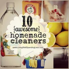 10 Awesome Homemade Cleaners #31 Days of Living Well & Spending