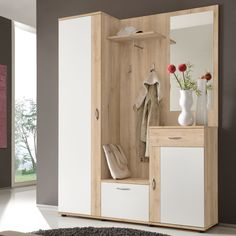 Garderobenkombination Belga Now at Wardrobe set from Top Square Vestibule, 4 Elements, Watermelon Diet, High Calorie Meals, Entryway, Furniture, Home Decor, Corridor, Houses