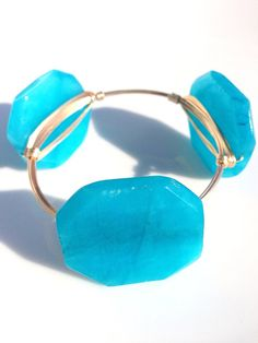 The Deep Blue Sea gold bauble bangle by LuELsDecor on Etsy, $12.99