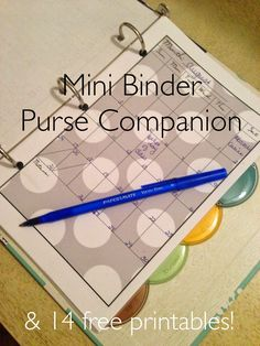 Mini Binder Purse Companion with Free Printables