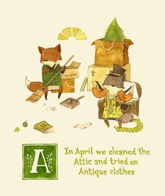 Adventures with Barefoot Critters: An ABC Book by Teagan White, via Behance