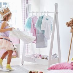 Keep children's dressing up clothes in order and easy to find with our new dressing up rail.